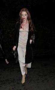 Nicola Roberts Jonathan Ross Halloween Party Candids 11
