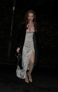 Nicola Roberts Jonathan Ross Halloween Party Candids 9