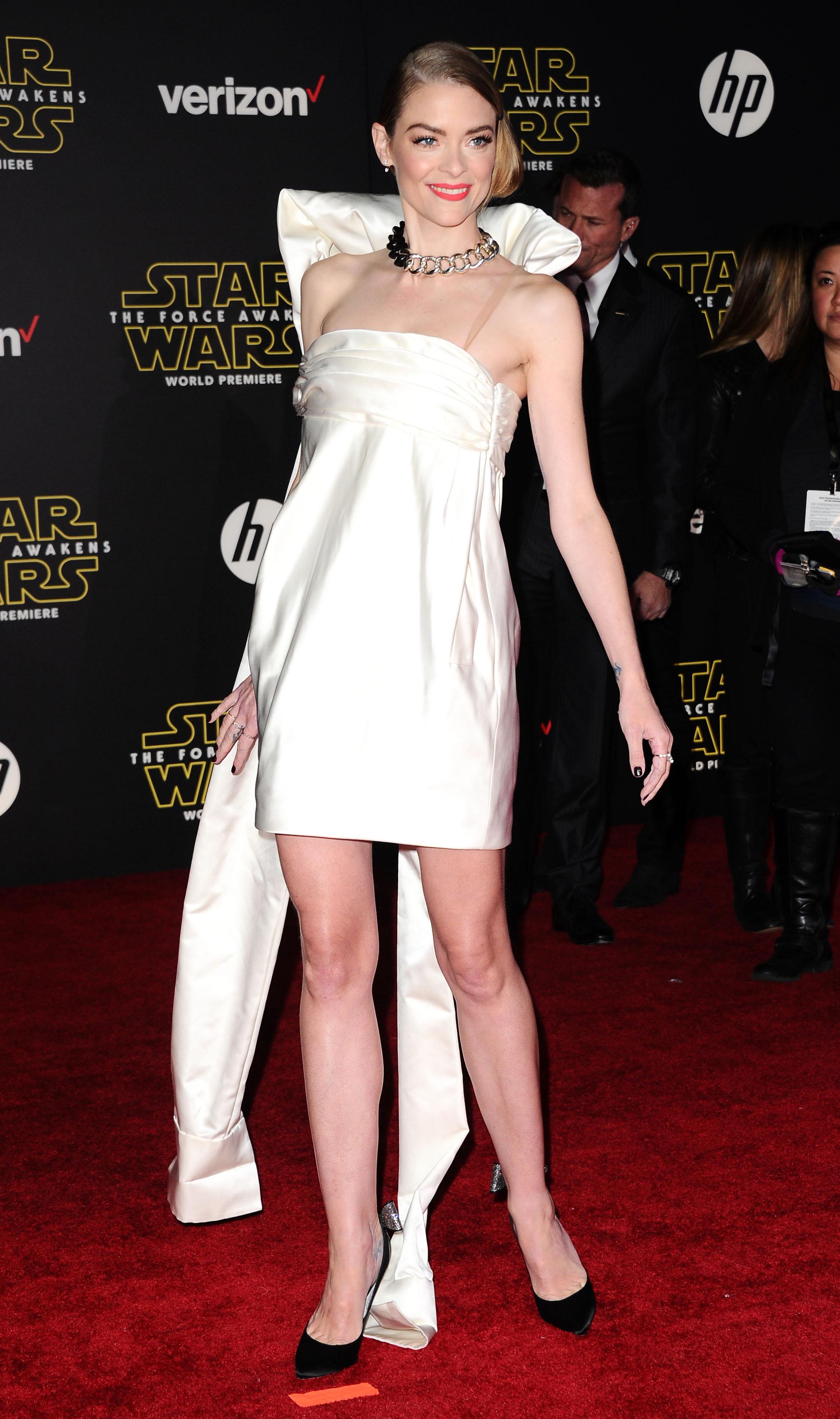 Jaime King Star Wars The Force Awakens Premiere 2 Satiny