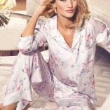 Marks And Spencer Rosie For Autograph Blur Floral Satin Nightwear 10