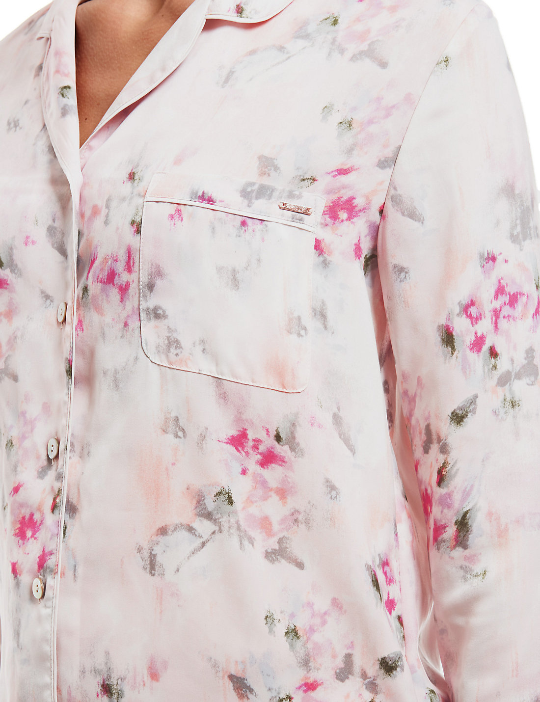 Marks And Spencer Rosie For Autograph Blur Floral Satin