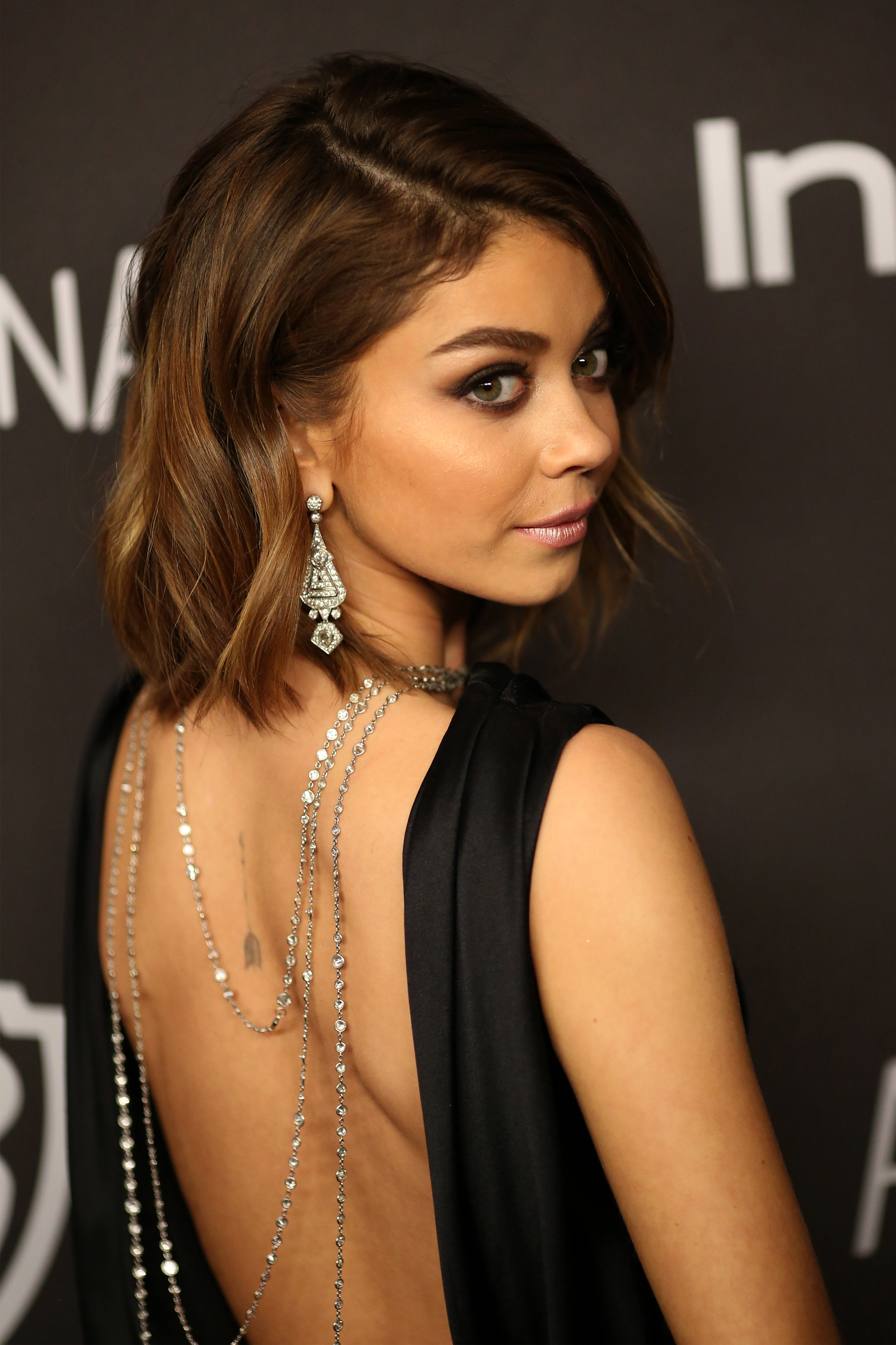 Sarah Hyland 2016 Instyle And Warner Bros Golden Globe