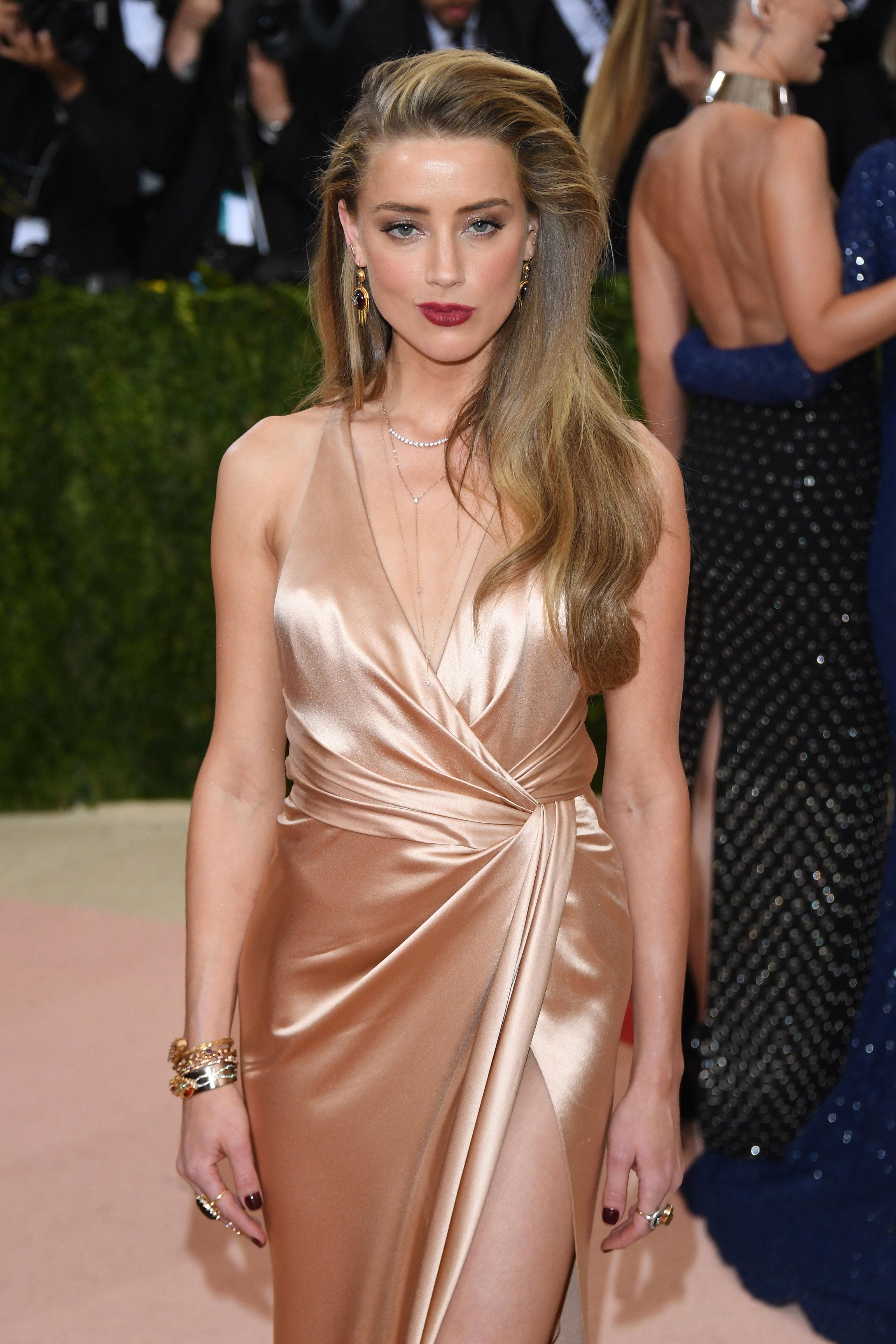 Amber Heard 2016 Costume Institute Gala 3 - Satiny Amber Heard