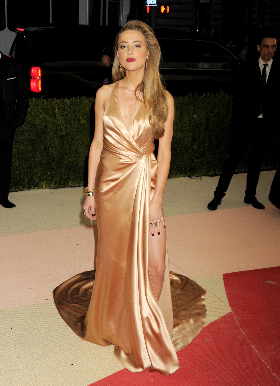Amber Heard 2016 Costume Institute Gala 1 - Satiny Amber Heard