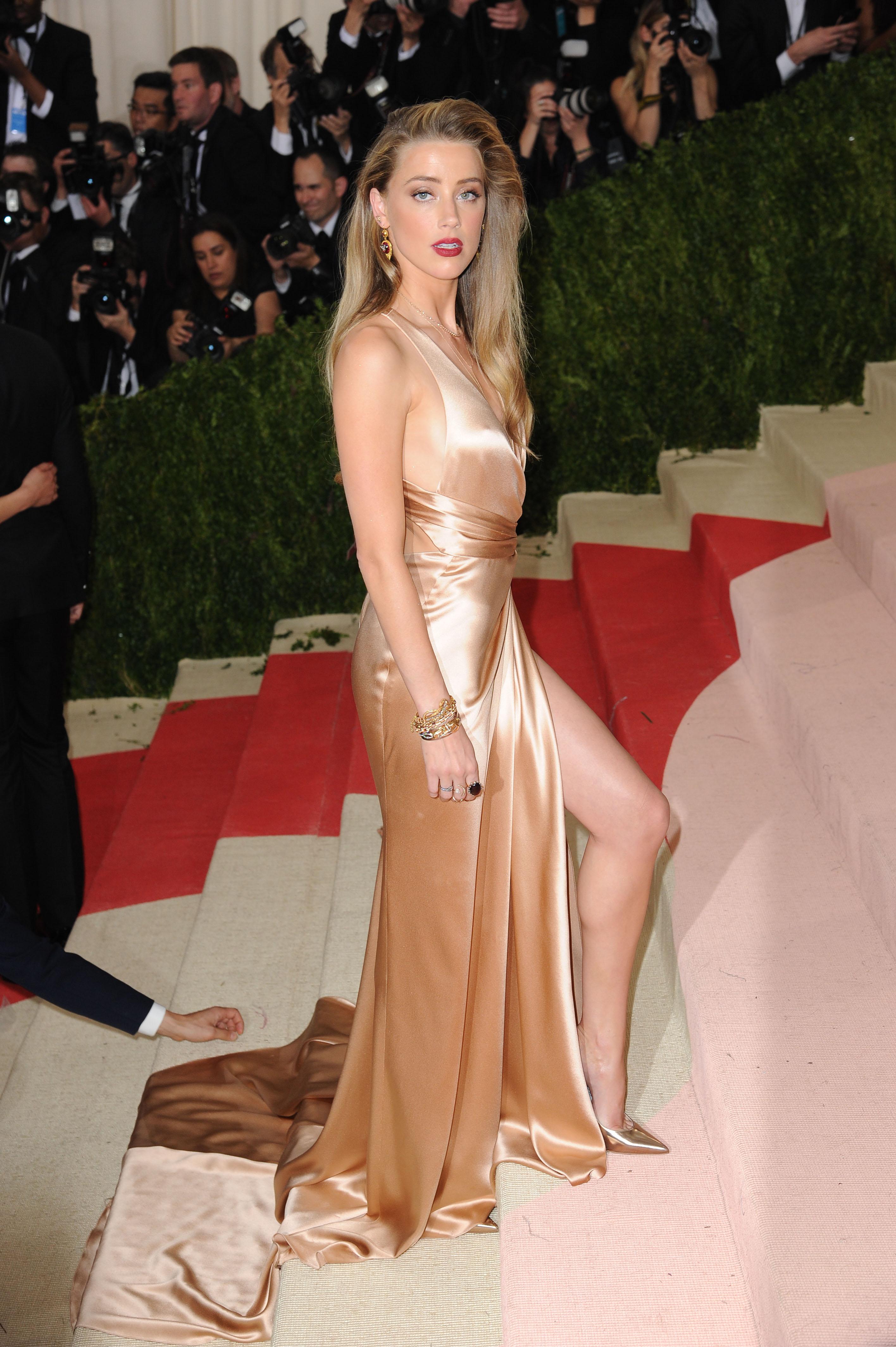 Amber Heard 2016 Costume Institute Gala 4 - Satiny Amber Heard