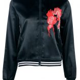 Boohoo Lucy Satin Embroidered Bomber 3