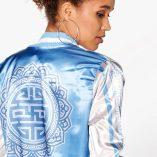 Boohoo Alexis Printed Sleeve & Back Satin Bomber 4