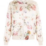 New Look Pink Floral Print Bomber Jacket 1