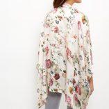 New Look Apricot Pink Floral Print Satin Kimono 4