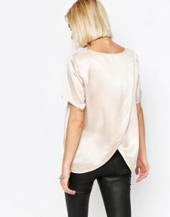 ASOS Selected Remmi Silk Top With Wrap Back 1