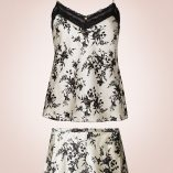 Marks And Spencer Silk And Lace Black Mix Print Set 6