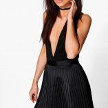 Boohoo Emilia Matte Satin Pleated Mini Skirt 5