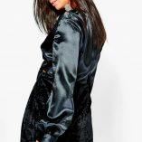 Boohoo Katherine Satin Knot Front Long Sleeve Blouse 2