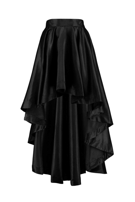 Fashion colours 2017 - Boohoo Annia Satin Dipped Hem Full Maxi Skirt Satiny
