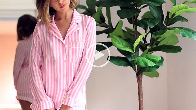 Kalel Pink Striped Silky Pyjama Set main