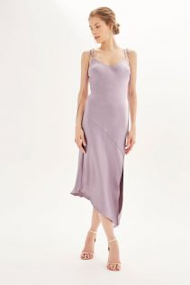Topshop Asymmetric Hem Slip Dress 2
