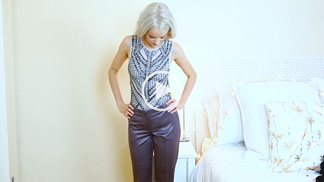 Inthefrow Mauve Purple Silky Trousers main