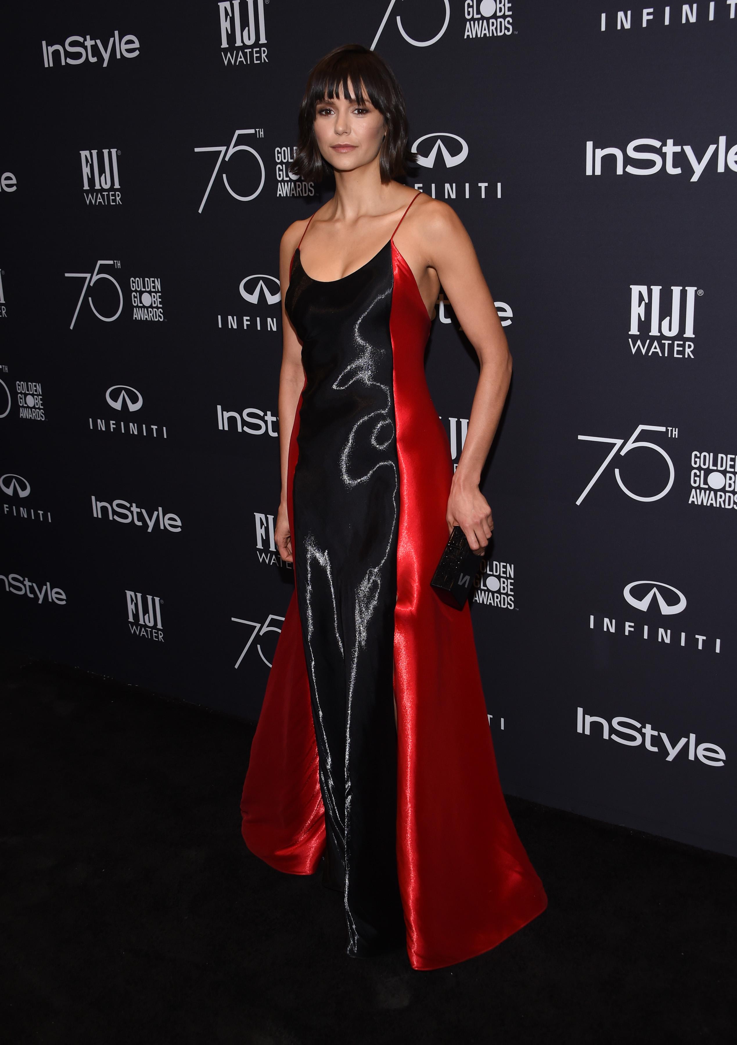 Nina Dobrev 75th Golden Globe Awards Anniversary 1