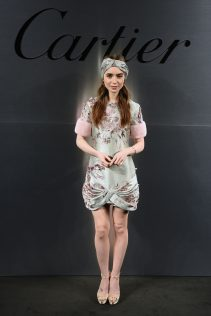 Lily Collins Santos De Cartier Watch Launch 6