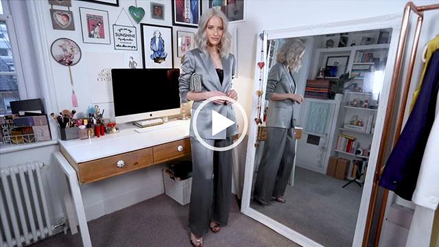 Inthefrow Grey Blue Metallic Suit main