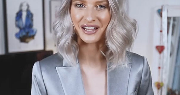 Inthefrow Grey Blue Metallic Suit