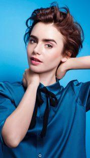 Lily Collins Lancome 2015 1