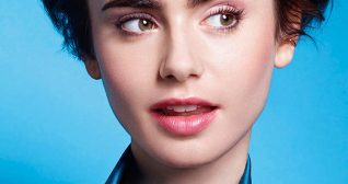 Lily Collins Satin