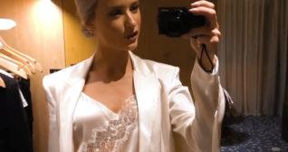 Inthefrow Silky Satin White Blazer