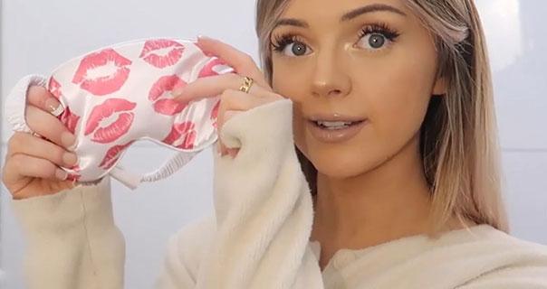Naomi Victoria Satin Eye Mask