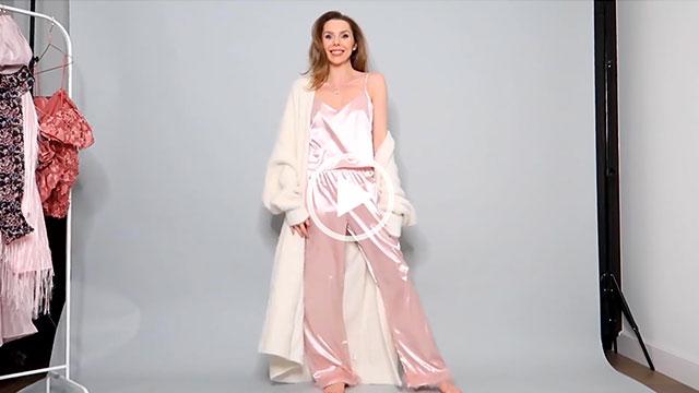 Laura Blair Satin Pink Pyjamas main