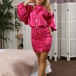 Only Silk And Satin Luna Pink Satin Minidress 1